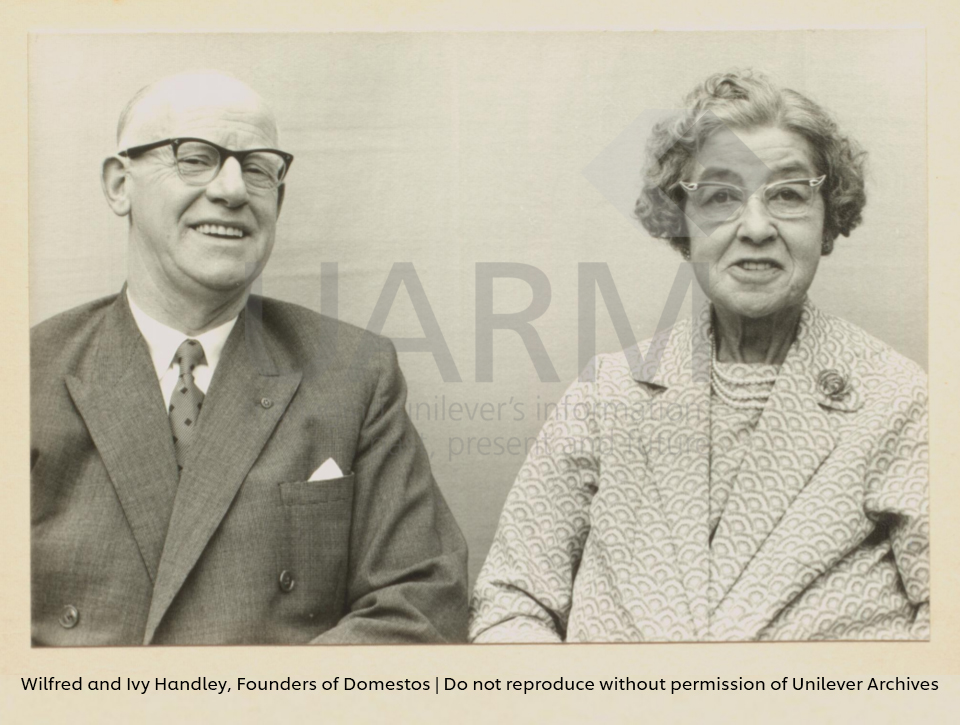 Wilfred and Ivy Handley, Founders of Domestos